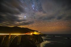 Cloudy Milky Way  -1995- (zayaspointofviewphotography1) Tags: california bigsur bridge milkyway stars clouds
