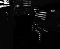 The Wait (v NaTaS v) Tags: noir bnw black blackandwhite secondlife sl second life mesh alcohol drink glass scotch shadow shadows table deadwool wr weekendruiner booze detective 40s pi gun lamp reddcolumbia