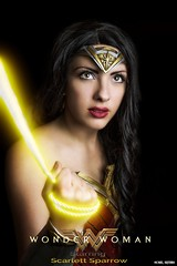 Tell Me Everything... (Ring of Fire Hot Sauce 1) Tags: cosplay wonderwoman scarlettsparrowcosplay brunette portrait glamour movieposter sandiegocomiccon sdcc