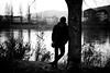 Melancholia (Black&Light Streetphotographie) Tags: mono monochrome menschen menschenbilder leute people personen portrait urban trier tiefenschärfe wow water river fluss dof fullframe vollformat sony streets