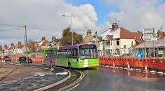 "PJ53 OLC, Ipswich Buses Dart 84 ""wrong road running"" in Heath Road, 27th. February 2018. (Crewcastrian) Tags: ipswich buses ipswichbuses transport publictransport heathroad transbus dart eastlancs pj53olc 84"