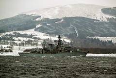 HMS Westminster (Zak355) Tags: rothesay isleofbute bute scotland scottish snow beastfromtheeast storm weather f237 royalnavy navy ship frigate boat vessel riverclyde hmswestminster type23