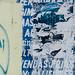 Peeling Blue Poster, Cartagena Colombia