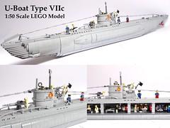U-Boat VIIc 1:50 LEGO Model (LuisPG2015) Tags: