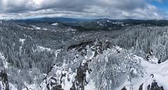 Hobart Bluff (acase1968) Tags: photomerge hobart bluff 7photo snow may southern oregon panorama nikon d750 nikkor 24120mm f4g rogue valley ashland pilot rock