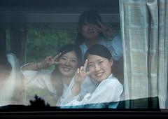 Japanese tourists women in a bus originated from North Korea during a touristic visit, Pyongan Province, Pyongyang, North Korea (Eric Lafforgue) Tags: 1819years 2024years asia asianethnicity bus colourimage communism dictatorship dprk gaeseong horizontal japanese kaesong nk119043 northkorea people pyongyang smile smiling teenagegirls threepeople tourists traditionalclothing visiting women womenonly youngadultsonly pyonganprovince 北朝鮮 북한 朝鮮民主主義人民共和国 조선 coreadelnorte coréedunord coréiadonorte coreiadonorte 조선민주주의인민공화국 เกาหลีเหนือ קוריאההצפונית koreapółnocna koreautara kuzeykore nordkorea північнакорея севернакореја севернакорея severníkorea βόρειακορέα