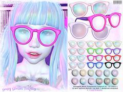 [ bubble ] Geeky Glasses Fatpack (::: insanya ::: & [ bubble ]) Tags: secondlife bubble originalmesh accessories glasses mesh hud pastel vivids exclusive sanarae