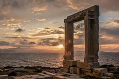 (Vasilis Kotsinis) Tags: greece greekislands ancientgreece ancient monument temple aegean naxos cyclades mediterranean nikon nikond5200 d5200 sunset dusk goldenhour sky sea seascape
