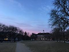 Sunset near Illini Union and Altgeld Hall, Urbana, IL (GDADA) Tags: illinois urbana uofi