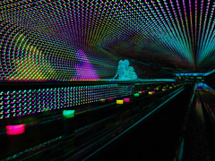 Moving walkway (Subtractive filter HSE) (Thiophene_Guy) Tags: thiopheneguy sp550uz originalworks colour colors colours rainbow color surreal thsfeset harrisshutter effect rainbowcolors kinetic dynamic dynamism action motion movement aleatoric subtractivefilter subtractivefilterhse subtractivedifferenceharrisshuttereffect negativespace