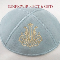 Monograma estilizado (sunflower_kipa) Tags: kipá kipot kippah quipá yarmulka sunflowerkipa judaica casamento barmitzvah wedding embroidery bordado estampa