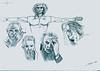 Specialty in Masters Eyes - Artist: Leon 47 (Leon XLVII) (leon 47) Tags: specialty masters eyes leon 47 xlvii drawing leonardo da vinci pablo picasso gianna nannini federico fellini constantin brâncuși