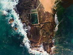 Mona Vale Pool (danemoltz) Tags: drone pool beach sydney sand waves ocean oceanpool rockpool