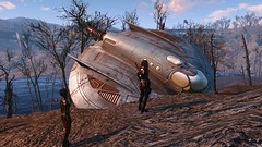 Fallout4 - Surveillance UFO shot down (tend2it) Tags: fallout4 fallout 4 rpg game pc ps4 xbox screenshot screenarchery reshade postprocessing injector nuclear apocalyptic future zeta alien blaster gun space suit ms abominations mod surveillance party ufo