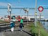 RHE341 Birs Terminal on the Hochrhein River, Birsfelden, Canton Basel-Landschaft, Switzerland (jag9889) Tags: 2017 20170905 arlesheim bl baselcountry birsfelden ch cantonbasellandschaft cargo container crane europe fluss helvetia highrhine hochrhein kantonbaselland locomotive outdoor people port post railroadtracks railway rein reno rhein rhin rhine rijn river road schweiz sign signpost sky strom suisse suiza suizra svizzera swiss switzerland terminal text train wasser water waterway jag9889