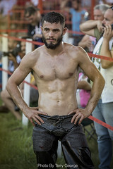ED076A2987 (TerryGeorge.) Tags: turkishoilwrestling gym abs muscles beard handsome fitness oilwrestling istanbul turkish turkey europe ripped realman wrestling workout oil