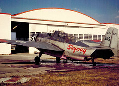 CF-KCL at Prince George 1961 (John W Olafson) Tags: cfkcl n109k grummantbmavenger skywayairservices conairaviation forestprotectionltd warbird