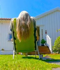 Summer vibes are on. (evakongshavn) Tags: summervibes summervacation summertime summerfeeling summer havingfun evaselfie selfie hair lol