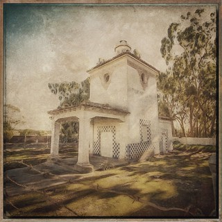 Barnsdale Rio Grande gas station 1929. Started with 2017 photo. #snapseed #stackables #photocopier #brushstrokes #imageblender #rippix #formulas #retro #texture #textures #americana #goleta #barnsdale #artistry_flair