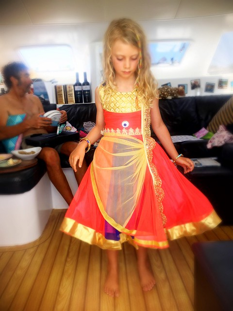 New dresses from India, gifted by the Mothership