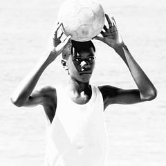 Copacabana_0074 (1) (LifeViewer) Tags: ngc brasil brazil riodejaneiro rio playa beach copacabana futbol football portrait blackwhite blackwhitephoto retrato blackguy boy