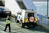 FollowingTheJag. (Hodd1350) Tags: poole dorset sandbanks chainferry vehicles police man male boarding chain hivisjacket seawater sony sonyfe70300 sonylens a7rll