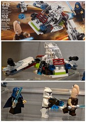 Lego Jedi and Clone Troopers Battle Pack NYC Toy Fair (LegoDad42) Tags: lego jedi clone troopers battle pack nyc toy fair