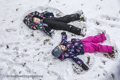 Snow Angels (livininfrostytown) Tags: snow snowstorm storm weather fun winter utah 2018 charmedimpressions frostytown white snowangels angels son boy child granddaughter girl family
