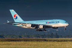 HL7613 Korean Air Airbus A380-861 34L Sydney Airport SYD/YSSY 24/2/2018 (TonyJ86) Tags: aviationphotography contrast sunlight morning tamronsp150600mmf5663divcusdg2 tamron nikond750 d750 nikon aviationporn avgeek avporn planespotter planespotting au australia newsouthwales nsw sydney mascot sydneykingsfordsmith sydneyairport yssy syd airport travel fly flight arrival international passenger passengerjet jetaircraft jetplane jet plane aeroplane airplane airliner aviation aircraft pepsiwhale whale superjumbo quadjet widebody a380861 a380800 a388 a380 airbus kekal koreanair hl7613