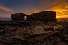 Ladder Rock at Corona Del Mar (RyanLunaPhotography) Tags: cdm california canon coronadelmar evening newportbeach ocean orangecounty socal southerncalifornia beach landscape seascape sunset