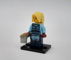 Eslandolan Milkmaid (Robert4168/Garmadon) Tags: brethrenofthebrickseas minifigure lego eslandola milkmaid light blue pail wink