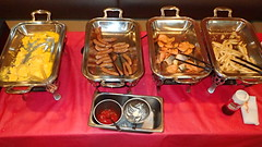 4693 Gusto breakfast buffet: eggs, weiners, salmon, chips (Nemo's great uncle) Tags: shibamata 柴又 葛飾区 東京 katsushikaku tokyo tōkyō gusto ガスト restaurant kaminarimon 雷門 asakusa 浅草一丁目 taitōku 台東区 buffet 食べ放題