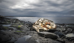 The magic stone (A.Husvaer) Tags: norway dønna helgeland norge kystlandskap coast sea water stone magic