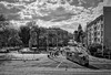 Wroclaw / Breslau (Andreas Meese) Tags: strassenszene streetscene strassenbahn wroclaw breslau mai 2017 tag day wolkig cloudy nikon d5100 black white bw