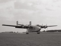 XB263. Royal Air Force Blackburn Beverley C.1 (Ayronautica) Tags: 53sqn royalairforce raf blackburnbeverleyc1 xb263 1961 september egql leuchars airshow military scanned aviation ayronautica