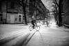Dust 137.365 (ewitsoe) Tags: snow jezyce canon eos 50mm 6dii street monochrome bnw blackandwhite winter cold bike ride traffic snowing snowfall ice slip slide shadows