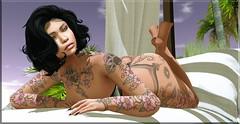 Fashion Advisory #169 Tattoos Make Me Bloom (Fashion Advisory) Tags: taox truth maitreya glitzz secondlife avatars slfashion slmodel slshopping fifriday blogging blogger