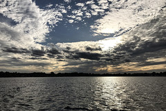 IMG_0916 (Saad M.N.B.) Tags: sky water sea sunset boat walledlake clouds