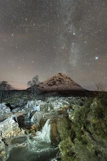 Buachaille Etive Mor under the Stars