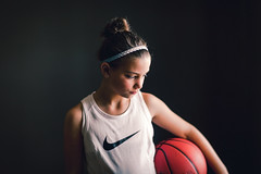 (Rebecca812) Tags: girl basketball sports portrait studio nike ball play determined feminist girlpower strength strengthisbeauty headband tanktop athletic people tween canon rebeccanelson rebecca812