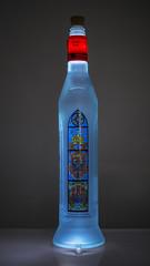 light in a bottle (Wendy:) Tags: bottle glass polish vodka light odc internal backlight nik color effects blue