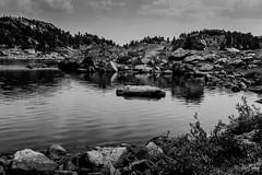 Snyder Lake 1 (Kent Copeland) Tags: cody wyoming unitedstates beathtoothwilderness absarokamountains bnw