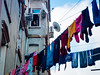 Tarlabaşi Istanbul (scobbiebhoy) Tags: istanbul turkey candid monochrome monochromatic street photo photography colour color colourful woman washing window