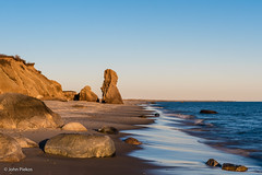 Special Spot: Lucy Vincent Beach, Martha's Vineyard (John Piekos) Tags: privatebeach restrictedaccess d750 marthasvineyard winter rocks cliffs specialspot nikon surf beach 2470mm erosion chilmarkwater waves