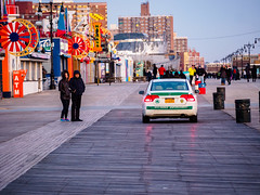 NYC Parks Enforcement (deepaqua) Tags: brooklyn lunapark trashcan amusementpark atm winter boardwalk street streetlamp offseason auto coneyisland