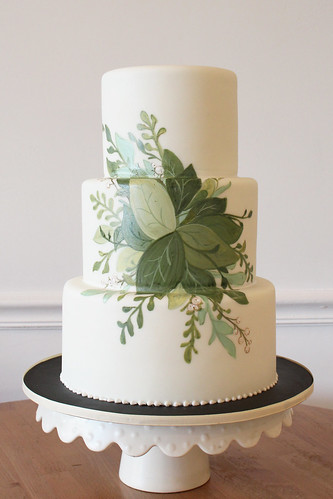 Painted Greenery from Invite Wedding Cake