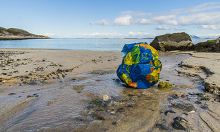 Marine litter. A plastic globe - are we getting there?