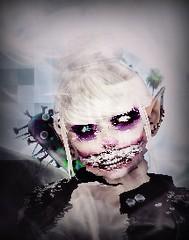 New Icon~ (ΨĄηϊʈα Ďeceιt IкєяυΨ) Tags: goth clown cat glitch fog effects icon misty blue pink purple creepy cute second life secondlife sl snapshot screenshot