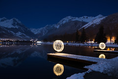 Light painting sur le lac