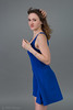 Blue dress (piotr_szymanek) Tags: sylwia portrait studio face eyes eyesoncamera hand skinny longhair wind woman lady girl short dress 1k 5k 20f 10k 50f 20k sylwiag